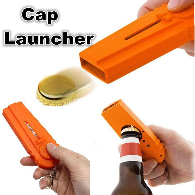 Creative Tool Flying Cap Launcher Bottle Beer Opener Keyring