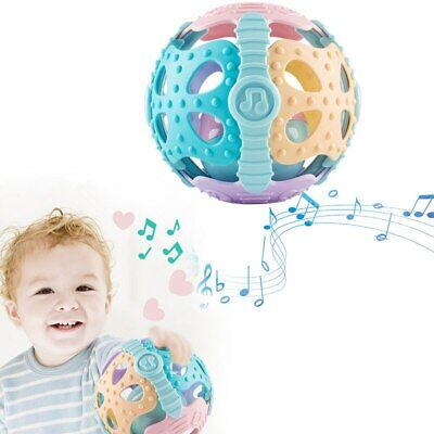Colorful Handrattle Ball Toys Baby Rattles Handbell Puzzle Educational Toys - Ball Toys