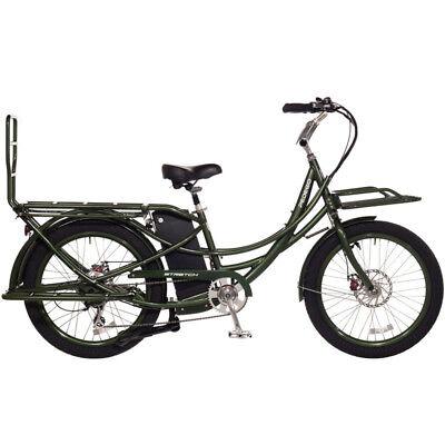 2018 Pedego Stretch Electric Cargo Bike eBike - Olive - 48V 17Ah Battery, New