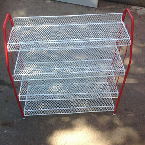 "4 shelfs shoe unit - like new condition 23""W  x 24""H x 9.5""D"