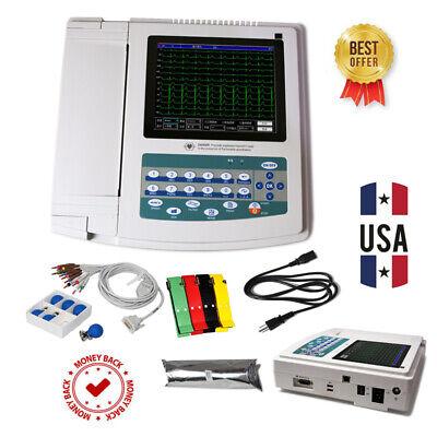 Portable Ecgekg Machine Digital 12 Channels 12 Lead Electrocardiographtouchus