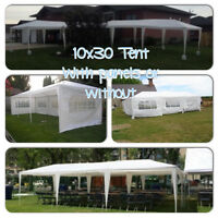 Your Exclusive Party Tent Rental with CCL - many layouts for YOU