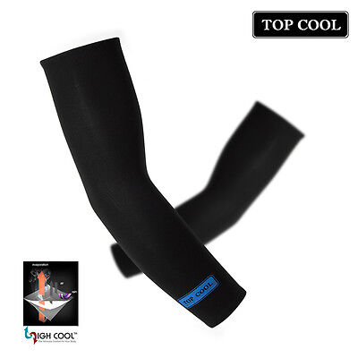 New Unisex Arm Sleeves Cooling UV Skin Cover Sun Protector [ Color : Black ]