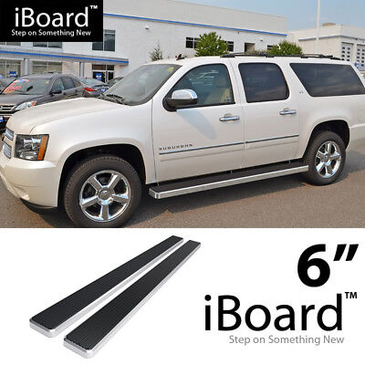 "iBoard Running Board 6"" Fit Chevy Avalanche/Suburban/GMC Yukon XL 00-18"