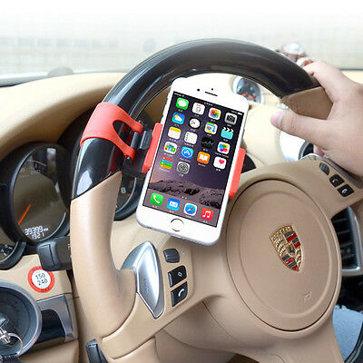 Car Steering Wheel Phone Mount GPS Clip Holder Socket Stand For Universal Ford