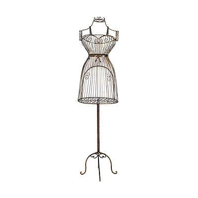57 Vintage Metal Scrollwork Boutique Dress Form Mannequin Display Stand Black