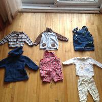 Lot de vêtements pour garçons 6-9 mois. 7 morceaux