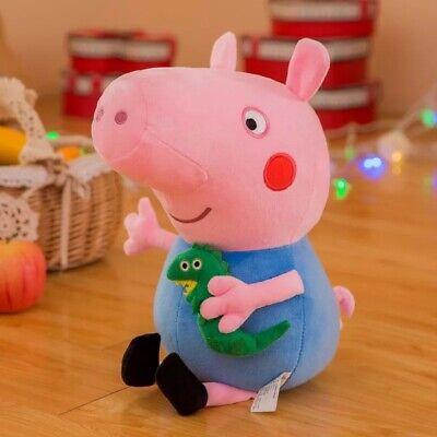 Peppa Pig Doll (10 inch 25cm Peppa Pig GEORGE Soft Stuffed Plush Doll kid gift cute high)