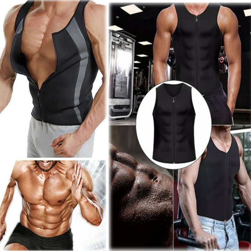 Men New Workout Lose Weight Slimming Sweat Vest Shaper Muscl