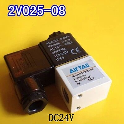 14 Bspt Dc24v 2v025-08 Air Valve 2 Position 2 Way Solenoid Nc
