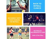 Back to Netball Sessions at Waterloo (Archbishop's Park)!