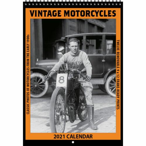 2021 VINTAGE MOTORCYCLES CALENDAR by Asgard Press