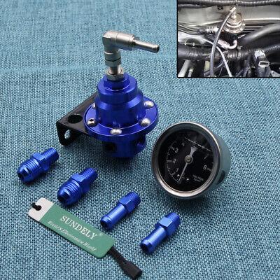 High Performance Car Pressure Gauge Adjustable Fuel Pressure Regulator Blue