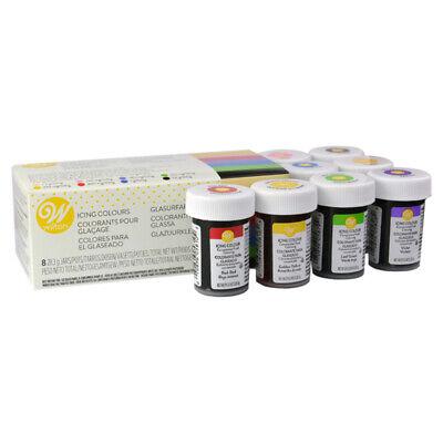 Wilton Icing Color Comestible Gel Colorante Alimentario Set de 8 colores