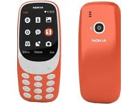 Sim Free Nokia 3310 Mobile Phone - Orange - Boxed