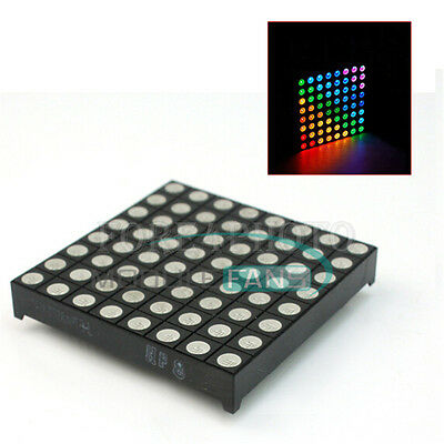 5mm 88 8x8 Full Colour Rgb Led Dot Matrix Display Module Common Anode Mf