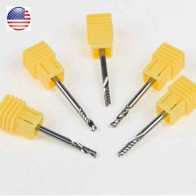 5pcs Single Blade Aluminium Cutting 1 Flute Cnc Router Bits 3.1753.17512mm