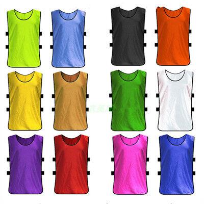 (Kids/Adult Team Sports Football Soccer Training Vest Train Jerseys Bib Uniform)