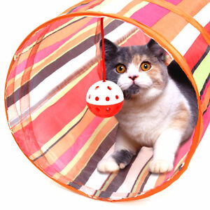 orange color Pet Cat Small Dog Rabbit Exercise Playing Tunnel