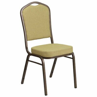 Bowery Hill Fabric Banquet Chair in Goldvein and Citron Yellow