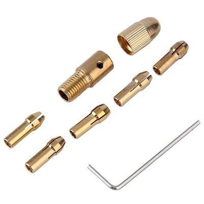 8Pcs 0.5-3mm Mini Electric Drill Bit Collet Twist Chuck Tool Adapter Stand MH