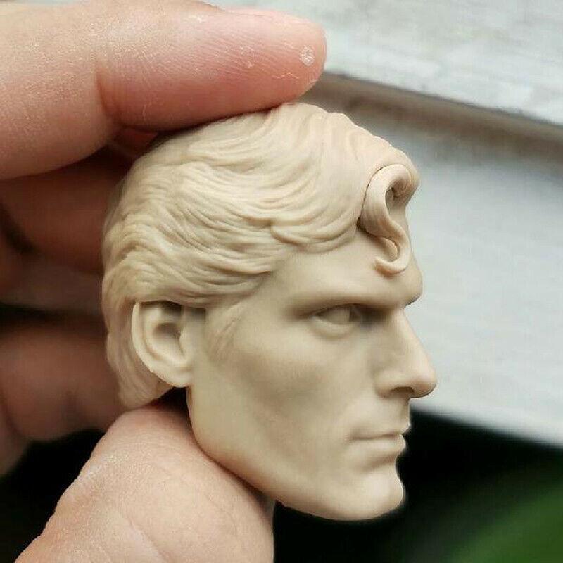 Classic Superman Christopher Reeve Head Sculpt Model 1//6 Fit 12/'/' Action Figure