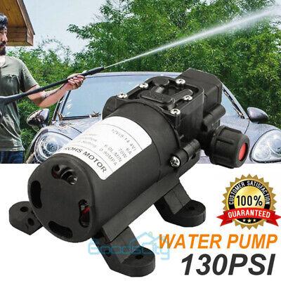 12v Electric Water Pump 130psi Self Priming Pump Diaphragm For Caravan Boat Lawn