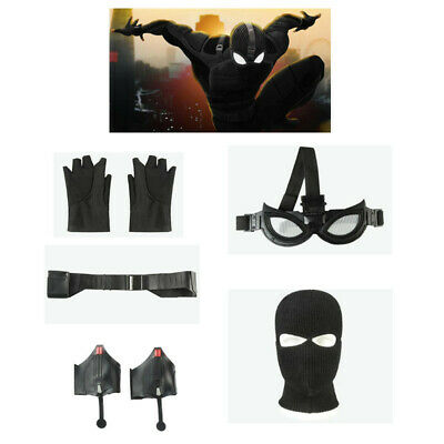 Spider-Man Far From Home Costume Mask Gloves Spiderman Stealth Suit Accessories](Spider Costume Accessories)