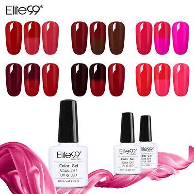 Elite99 Wine Red Thermal Color Changing Gel Nail Polish Mani