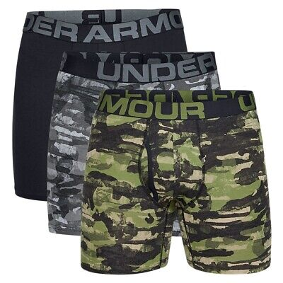 3 Pack 6 (Under Armour Charged Cotton Boxerjock Novelty 6 Inch 3-Pack - 1327427-233)