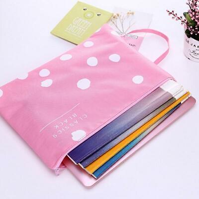 Students Paper Document Storage Purse Bag Cute File Folder Zipper Bag Purse Q