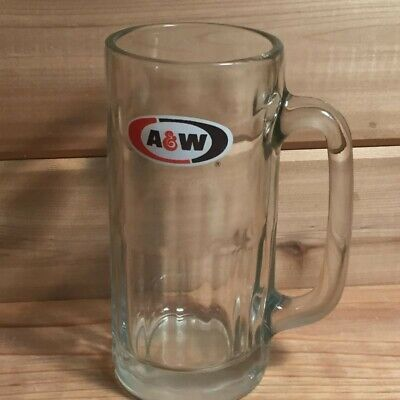 "A&W Root Beer       Glass Mug          7"" Tall      Vintage"