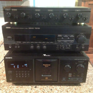 Stereo System including Sony, Russound, Yamaha and Bose