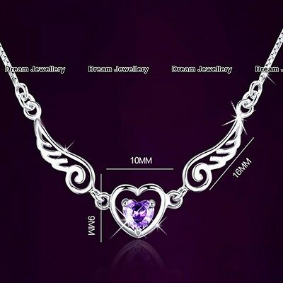 BLACK FRIDAY DEALS Angel Wings Crystal Necklace Xmas Gifts for Her Women Girl X4
