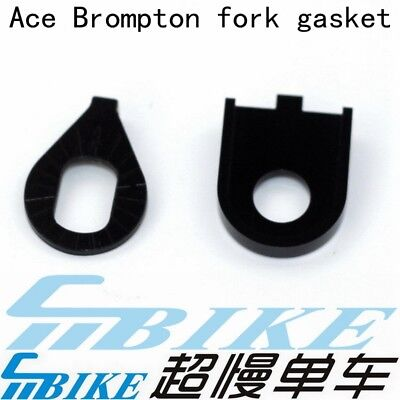 ACE 7075 Aluminum CNC Brompton Bicycle Front Wheel Fork Gasket steel titanium