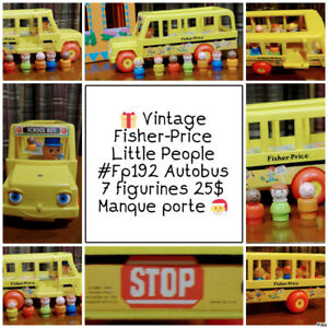 Vintage Autobus #FP192 | Fisher-Price | 7 figurines | 25$