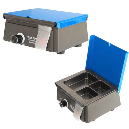 Dental lab equipment Analog Wax Heater Pot 110/220V Dipping Melting Pot 3 Well