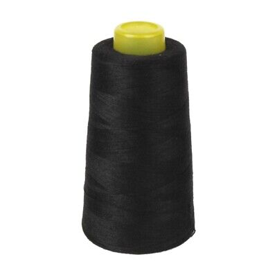 6000 Yards Quality Overlocking Sewing Machine Polyester Thread Cones, Black