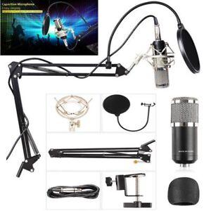 BM800 Audio Vocal Studio Condenser Microphone Kit Scissor Arm Stand Shock Mount
