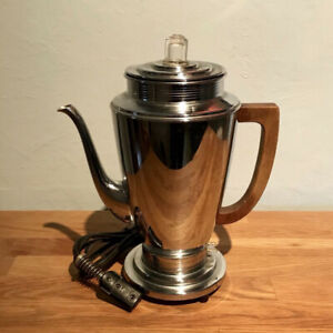 Manning-Bowman Vintage 6-Cup Chrome Coffee Percolator