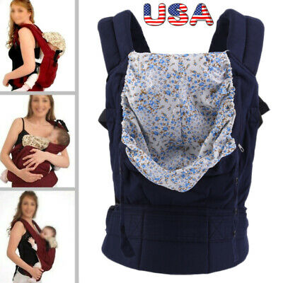 Newborn Infant Baby Carrier Breathable Ergonomic Adjustable Wrap Sling Backpack!