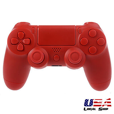 For Playstation 4 PS4 Controller Game Full Shell Buttons Custom Case Solid Red