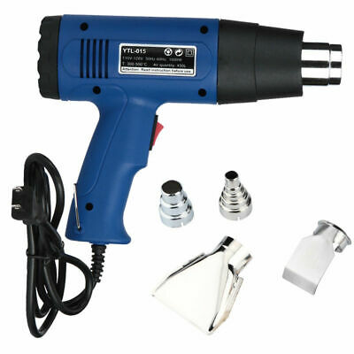 Dual Temperature Heat Gun Hot Air Gun Wind Blower Soldering Station 4 Nozzles