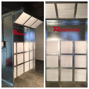Mini Spray Booth, self contained, low maintenance.