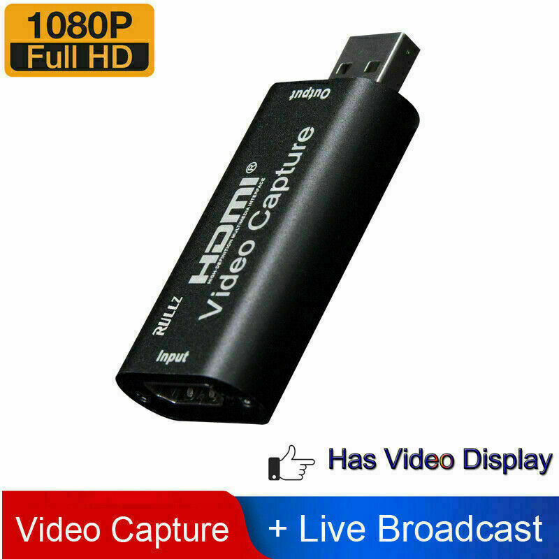 HDMI to USB 2.0 Video Capture Card 1080P HD Recorder Game/Video Live Streaming