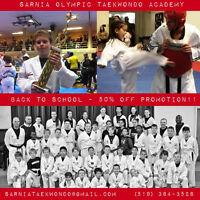 Sarnia Olympic Taekwondo BACK TO SCHOOL Promotion 50% Off