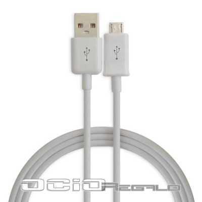 Cable cargador Blanco para Samsung Galaxy Note 4 N910 Micro USB Carga...