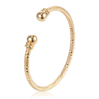 Baby Toddler Cuff Security Bangle Bracelet Gold Filled Adjustable