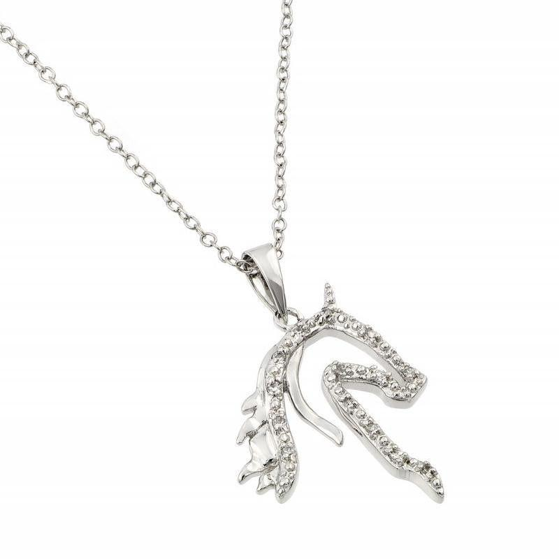 Sterling Silver Horse Necklace Ebay