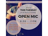 Musicians wanted- Eran Karniel + Open Mic night at Bank of Friendship Highbury- Every Tuesday 8:30pm